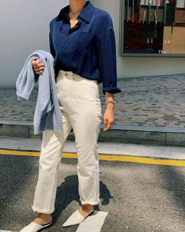 Để tránh bị chê không ra thể thống gì khi diện quần jeans đi làm, nàng công sở chỉ cần nhớ đúng 4 tips - Ảnh 8.