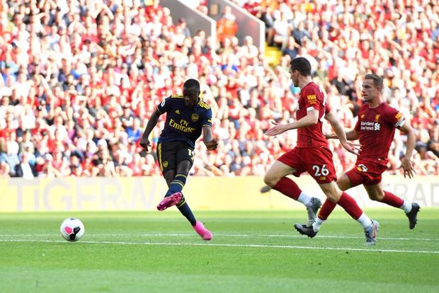 Vua Ai Cập Salah lập cú đúp, Liverpool thắng dễ Arsenal để độc chiếm ngôi đầu Ngoại hạng Anh - Ảnh 3.