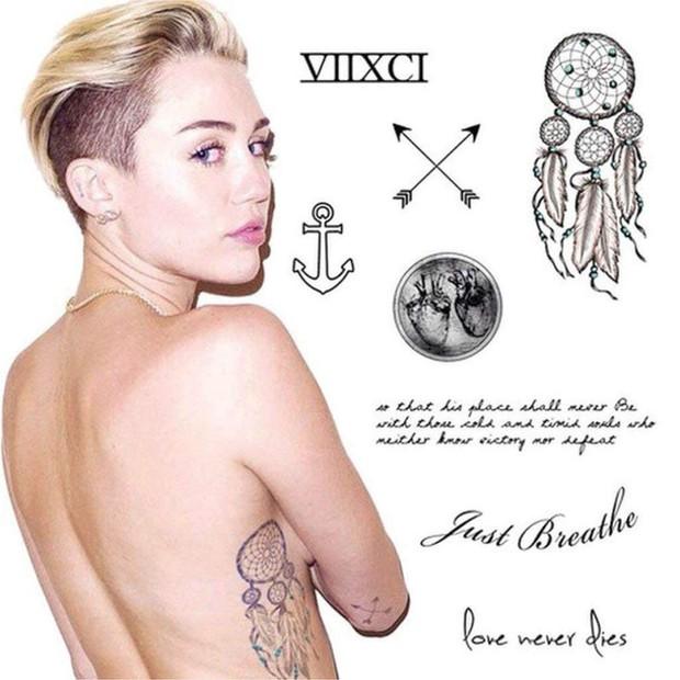 Ẩn ý đằng sau hình xăm của sao Hollywood: Ý nghĩa hình xăm của Selena Gomez sâu sắc nhưng chưa cảm động bằng Miley - Ảnh 9.
