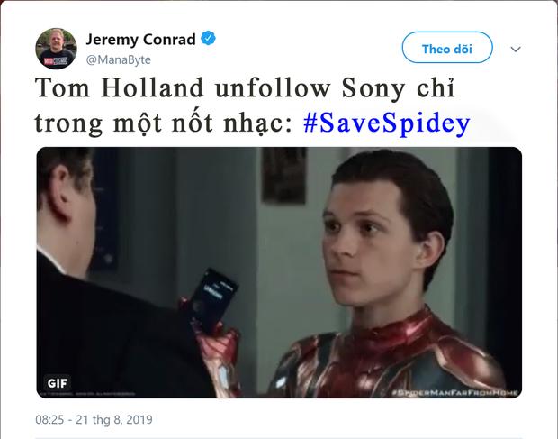 Buộc phải rời MCU, Nhện nhọ dỗi cả thế giới unfollow ông chú Sony và sự thật - Ảnh 2.
