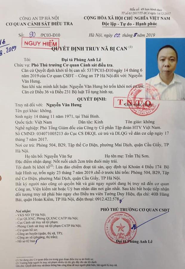 Hà Nội: Truy nã Phó TGĐ Công ty Tập đoàn HTV VN lừa đảo tiền tỉ - Ảnh 2.