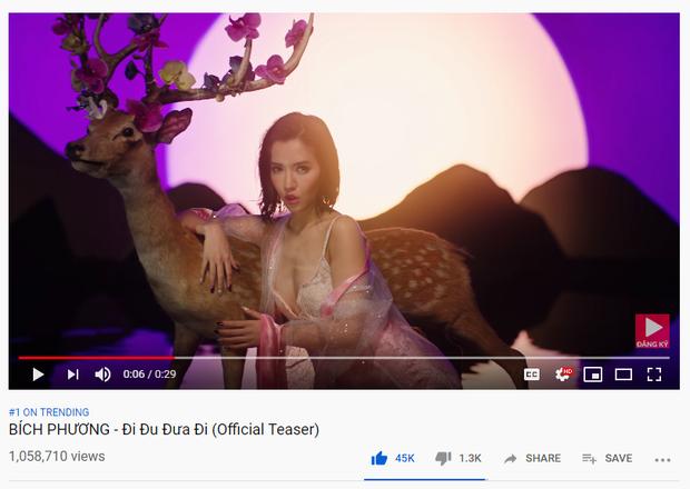 MV còn chưa ra mắt, Bích Phương đã nhanh chóng đu đưa lên luôn Top 1 Trending, thơ lục bát phối EDM quá lợi hại! - Ảnh 1.