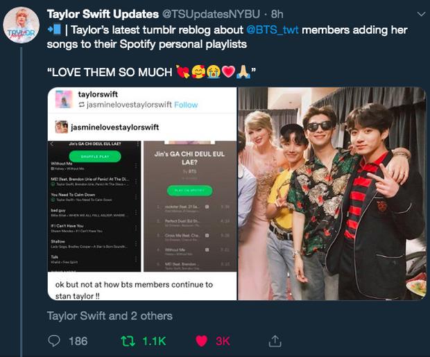 Lướt MXH dạo, Taylor Swift làm ARMY mừng rơn khi bày tỏ tình yêu với BTS theo cách cực đáng yêu - Ảnh 3.