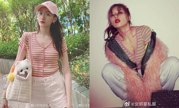 Thật khó tin đây là cùng 1 chiếc áo: Hyuna khoe ngực nở eo thon sexy, Quan Hiểu Đồng diện lại ngây thơ như nữ sinh - Ảnh 8.