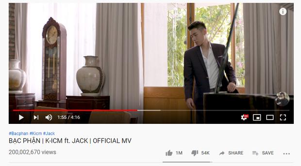MV Bạc Phận của Jack và K-ICM cán mốc 200 triệu view nhanh nhất Vpop, liệu Sơn Tùng có kịp phục thù? - Ảnh 1.