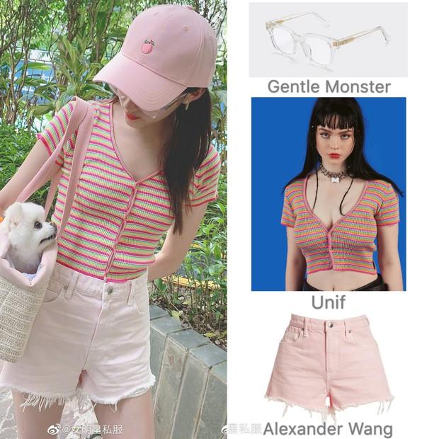 Thật khó tin đây là cùng 1 chiếc áo: Hyuna khoe ngực nở eo thon sexy, Quan Hiểu Đồng diện lại ngây thơ như nữ sinh - Ảnh 7.