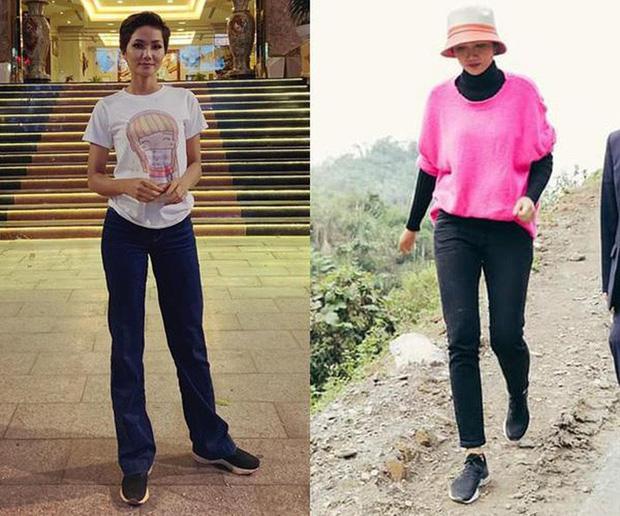 Từng là Hoa hậu tiết kiệm nhất Vbiz với giày 80k và áo phông đi mượn, giờ HHen Niê đã quen thuộc với việc dát đồ hiệu lên người - Ảnh 2.