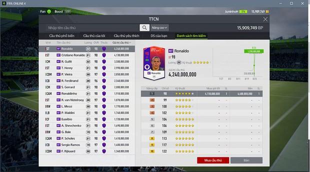 Thị trường chuyển nhượng của FIFA Online 4: Chỉ có HOT và phần còn lại! - Ảnh 1.