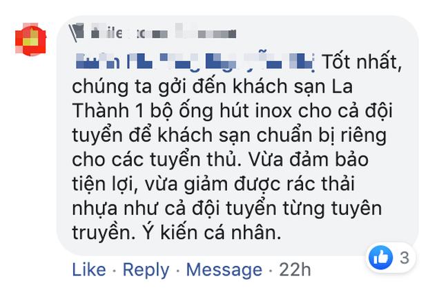 Tuyển Việt Nam dùng ống hút nhựa, fan nhắc khéo vì đi ngược lại vai trò đại sứ nói không với rác thải nhựa - Ảnh 3.