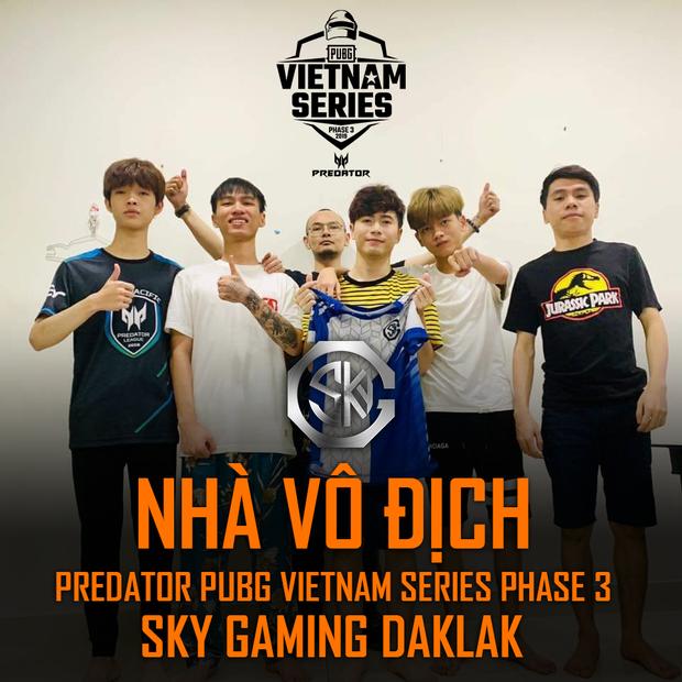Predator PUBG Vietnam Series Phase 3 là giải đấu PUBG kịch tính nhất từ trước đến nay, Sky Gaming Daklak lên ngôi vô địch nghẹt thở - Ảnh 1.