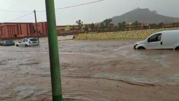 Lũ lụt đang hoành hành ở Morocco. Ảnh: AP.