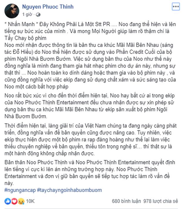 Trước lùm xùm cầm nhầm nhạc Noo Phước Thịnh, đạo diễn Ngôi Nhà Bươm Bướm từng dính phốt dùng ảnh chưa xin phép ở Phượng Khấu - Ảnh 1.