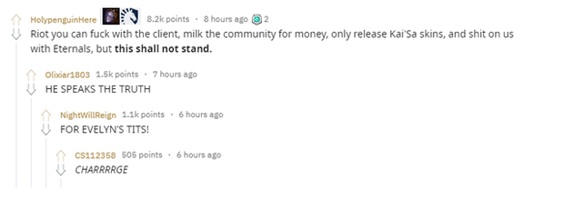 LMHT: Game thủ quốc tế phẫn nộ khi Riot Games giảm bớt phần sexy của Evelynn - Ảnh 3.