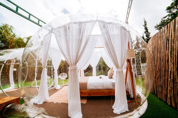 HOT: Đà Lạt lộ diện căn phòng bong bóng y hệt Bali khiến dân mạng người khen kẻ chê, đại diện resort nói gì? - Ảnh 13.