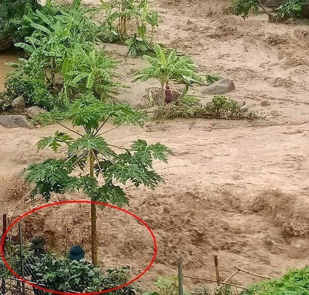Bão số 3: Sợ hãi clip cụ bà bám chặt vào cây chuối giữa cơn lũ quét kinh hoàng ở Thanh Hoá - Ảnh 3.