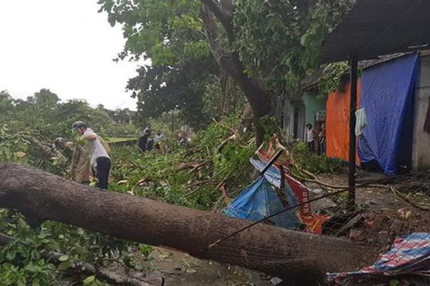 Gió lốc càn quét huyện miền núi, mưa lớn diện rộng ở Nghệ An và Hà Tĩnh do ảnh hưởng bão số 4 - Ảnh 2.