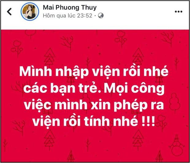 Thông báo phải nhập viện giữa đêm, Mai Phương Thúy khiến dàn sao Việt và khán giả lo lắng - Ảnh 1.