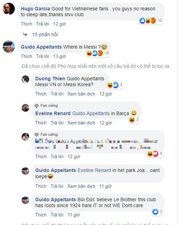 Fan Thái Lan tìm đến fanpage STVV để mỉa mai Công Phượng: Messi Hàn Quốc đến rồi, Messi Việt Nam về nước thôi - Ảnh 2.