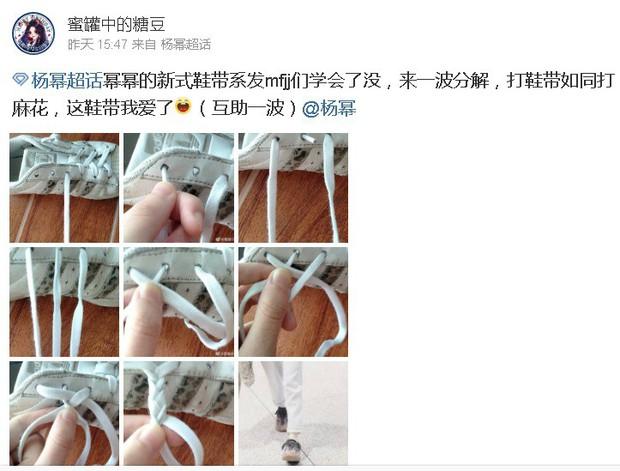 Có fan là thánh soi, đến cách thắt dây giày của Dương Mịch cũng thành hot trend khiến dân tình bấn loạn - Ảnh 5.