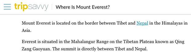 Đỉnh Everest cao nhất thế giới thì ai cũng biết nhưng đảm bảo 90% bạn sẽ trả lời sai vị trí chính xác của ngọn núi - Ảnh 3.