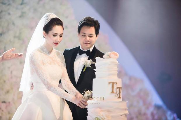Bóc loạt bí mật đằng sau váy cưới của các mỹ nhân Việt đình đám - Ảnh 4.