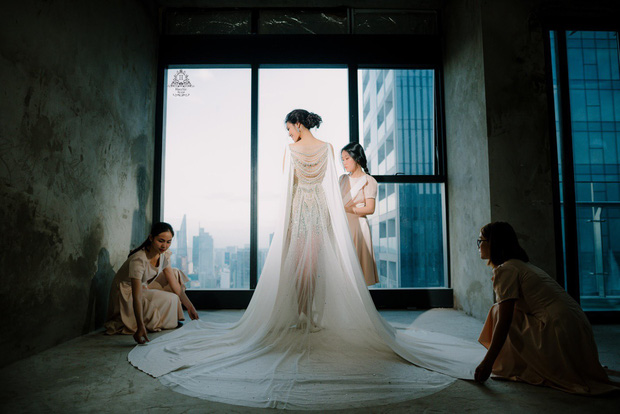 Bóc loạt bí mật đằng sau váy cưới của các mỹ nhân Việt đình đám - Ảnh 7.