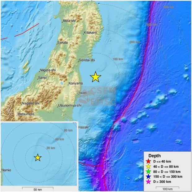 Nhật Bản: Một trận động đất mạnh 6,2 độ ngoài khơi Fukushima - Ảnh 1.