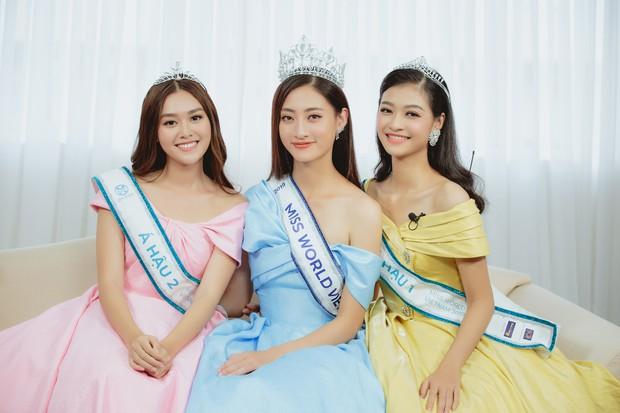 Cận cảnh nhan sắc Top 3 Hoa hậu Thế giới Việt Nam 2019: Lương Thùy Linh quá giống Đỗ Mỹ Linh, 2 nàng Á hậu đáng gờm - Ảnh 1.