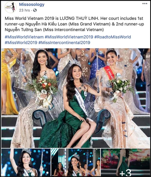 Tân Hoa hậu Lương Thùy Linh được dân mạng quốc tế hết lời khen ngợi nhan sắc, nhận xét xinh hơn cả Miss Thái Lan - Ảnh 1.