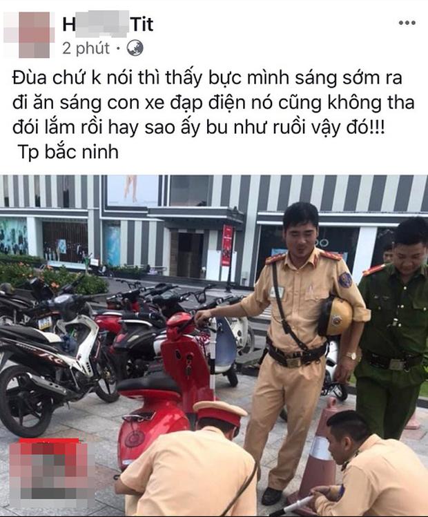 Đăng ảnh CSGT rồi kèm chú thích bu như ruồi, cô gái Thanh Hóa bị phạt 15 triệu đồng - Ảnh 1.
