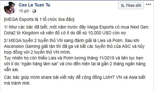 Từ Xemesis bị lừa đến drama The Queen Team, đây là những câu chuyện tiền bạc ồn ào nhất của làng game Việt - Ảnh 8.