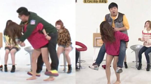 Ryujin (ITZY) run lẩy bẩy khi phải cõng nam MC có cân nặng gấp đôi mình - Ảnh 4.