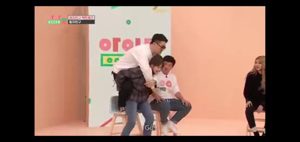 Ryujin (ITZY) run lẩy bẩy khi phải cõng nam MC có cân nặng gấp đôi mình - Ảnh 7.