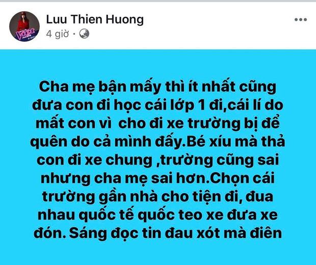 Lưu Thiên Hương gây bức xúc với phát ngôn sau vụ bé tử vong ở trường Gateway: Con mất là do cả cha mẹ đấy! - Ảnh 1.