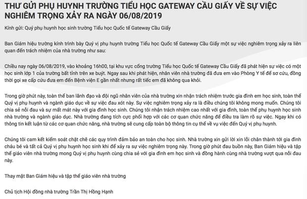 Trường Gateway tự thêm chữ Quốc tế vào tên trường để thu hút học sinh, phụ huynh? - Ảnh 2.