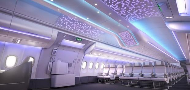Cận cảnh dàn nội thất siêu hiện đại sắp được trang bị cho các máy bay của Airbus trong tương lai - Ảnh 1.