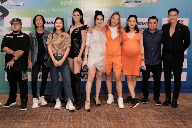 Diệp Lâm Anh vác bụng bầu tham gia show Marathon với Song Luân, Khả Ngân, Thu Hiền... - Ảnh 5.