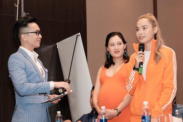 Diệp Lâm Anh vác bụng bầu tham gia show Marathon với Song Luân, Khả Ngân, Thu Hiền... - Ảnh 7.