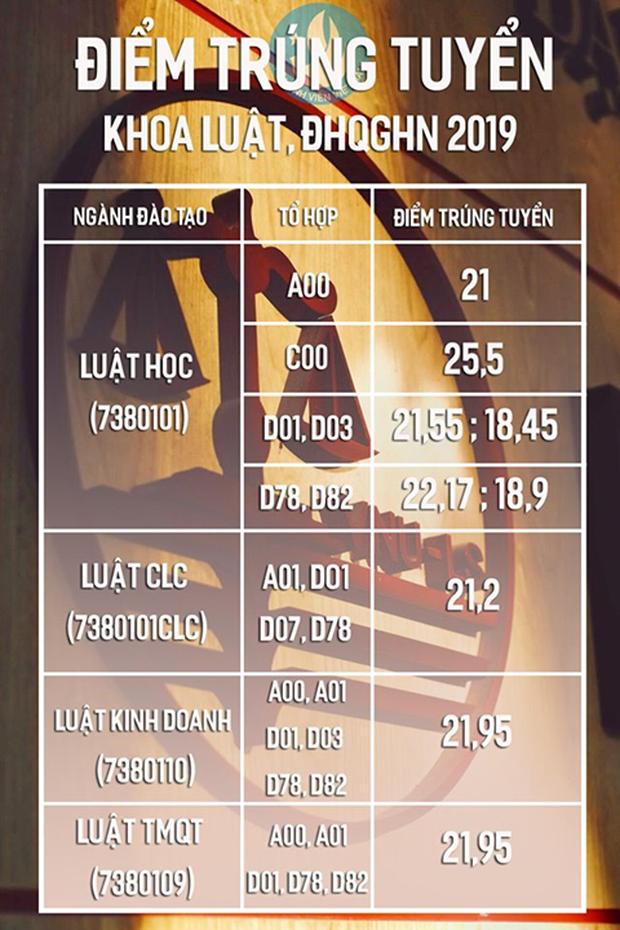 Điểm chuẩn Khoa Luật - Đại học quốc gia Hà Nội năm 2019, cao nhất là 25,5 điểm, thấp nhất là 18,45 - Ảnh 1.