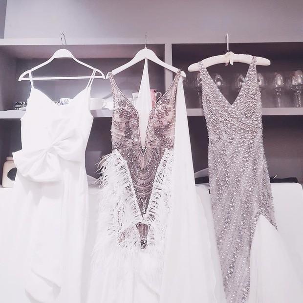 Sao Việt thay váy cưới như chạy show: Đàm Thu Trang đổi liền 3 bộ nhưng còn có người thay liền 5 bộ chỉ trong 1 ngày - Ảnh 5.