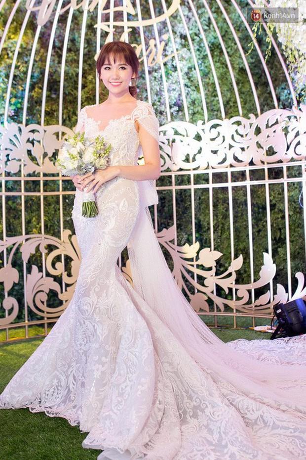Sao Việt thay váy cưới như chạy show: Đàm Thu Trang đổi liền 3 bộ nhưng còn có người thay liền 5 bộ chỉ trong 1 ngày - Ảnh 9.