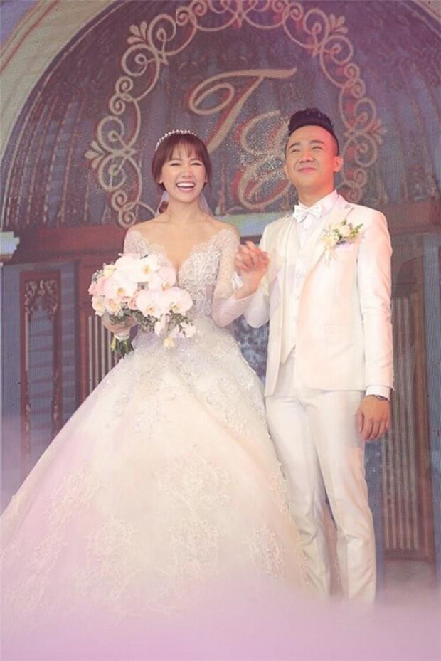 Sao Việt thay váy cưới như chạy show: Đàm Thu Trang đổi liền 3 bộ nhưng còn có người thay liền 5 bộ chỉ trong 1 ngày - Ảnh 10.