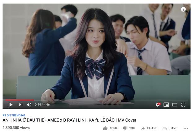 Linh Ka làm MV cover come back cực mạnh, lên thẳng Top 3 Trending vượt qua Chi Pu và Erik - Ảnh 1.