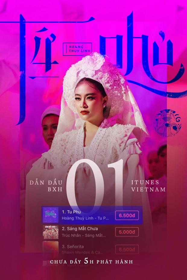 Chưa đầy 5 giờ phát hành, Tứ Phủ của Hoàng Thuỳ Linh leo thẳng quán quân BXH iTunes Việt Nam - Ảnh 1.