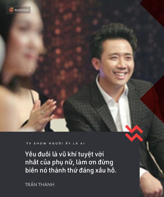 Suốt mùa 2 Người ấy là ai, Trấn Thành & Hương Giang đã để lại vô số phát ngôn ấn tượng! - Ảnh 5.