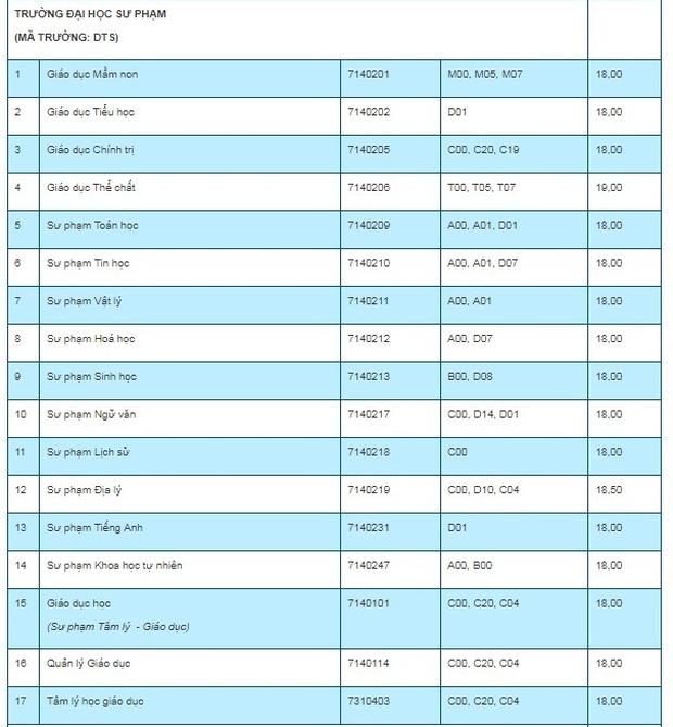 Điểm chuẩn 7 trường, khoa, phân hiệu trực thuộc Đại học Thái Nguyên năm 2019 - Ảnh 5.