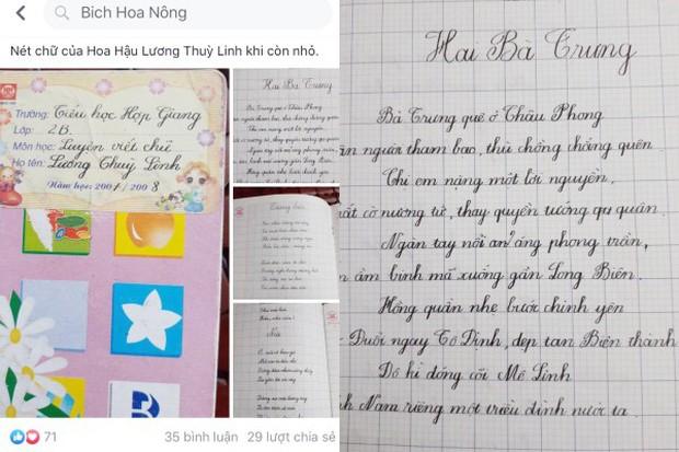 Không chỉ có IELTS 7.5 cùng thành tích học tập khủng, tân hoa hậu Lương Thùy Linh còn có nét chữ đẹp bất ngờ - Ảnh 1.