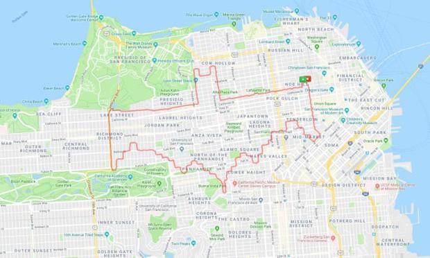 Kinh ngạc thanh niên dành cả thanh xuân để chạy vẽ hình lên ứng dụng bản đồ, kỷ lục 6 tiếng ngốn liền 46km - Ảnh 9.