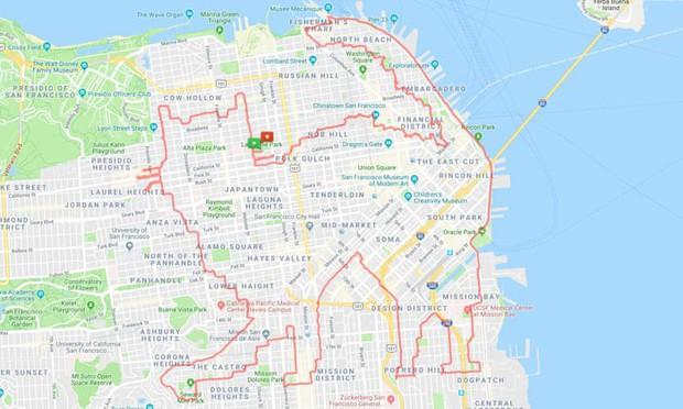 Kinh ngạc thanh niên dành cả thanh xuân để chạy vẽ hình lên ứng dụng bản đồ, kỷ lục 6 tiếng ngốn liền 46km - Ảnh 3.