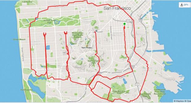 Kinh ngạc thanh niên dành cả thanh xuân để chạy vẽ hình lên ứng dụng bản đồ, kỷ lục 6 tiếng ngốn liền 46km - Ảnh 6.